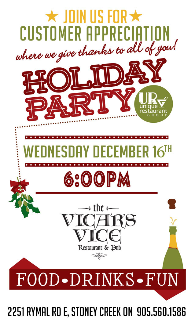 Customer Appreciation Holiday Party at the Vicar's Vice