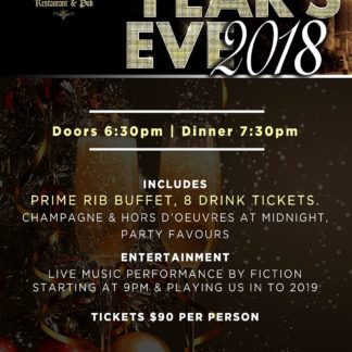 New Years Eve at Vicars Vice - Monday December 31st, 2018