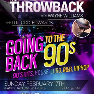 The Throwback with Wayne Williams - Sunday February 17th, 2019 at 33 Bowen