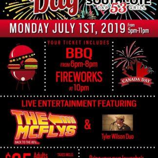 CANADA DAY at Southcote 53 – Monday July 1st, 2019