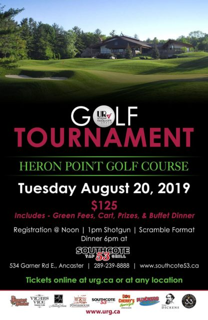 URG Golf Tournament - Tuesday August 20th, 2019 at Heron Point Golf Course